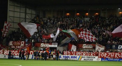 Shelbourne fans in Tolka Park